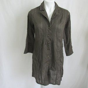 Cabi GOT YOU COVERED Green Tunic Jacket 341 S